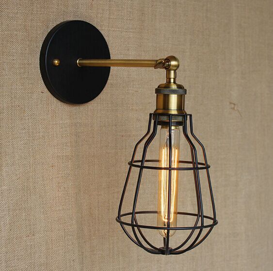ФОТО Retro RH Loft Style Industrial Vintage Lamps Wall Lights Edison Wall Sconces Lamparas De Pared,E27*1 Bulb Included
