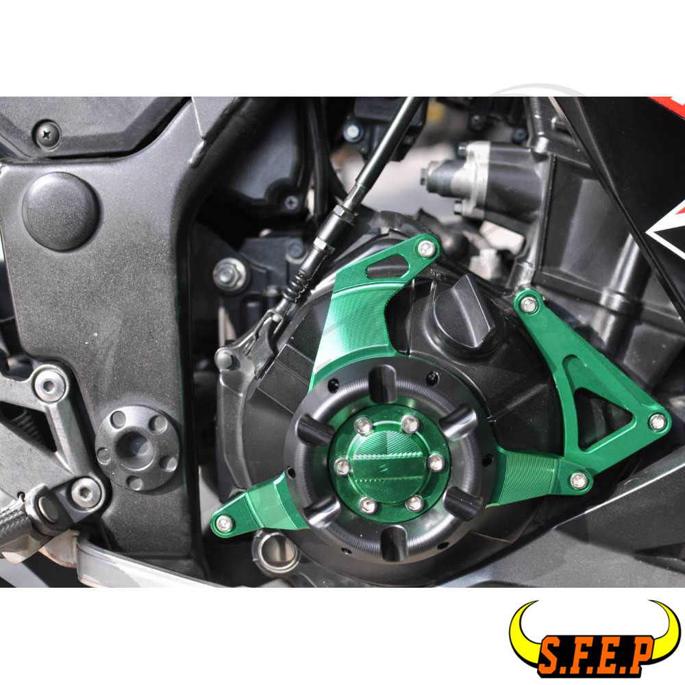 2008-2012 Kawasaki Ninja 250R EX250 Chain and Sprocket Kit Green Heavy Duty