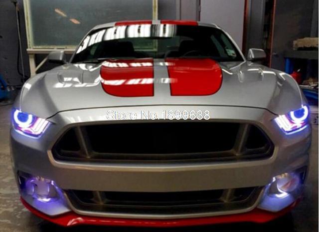 For Ford Mustang 2015 2016 Plasma Headlight Halo Angel Demon Eyes