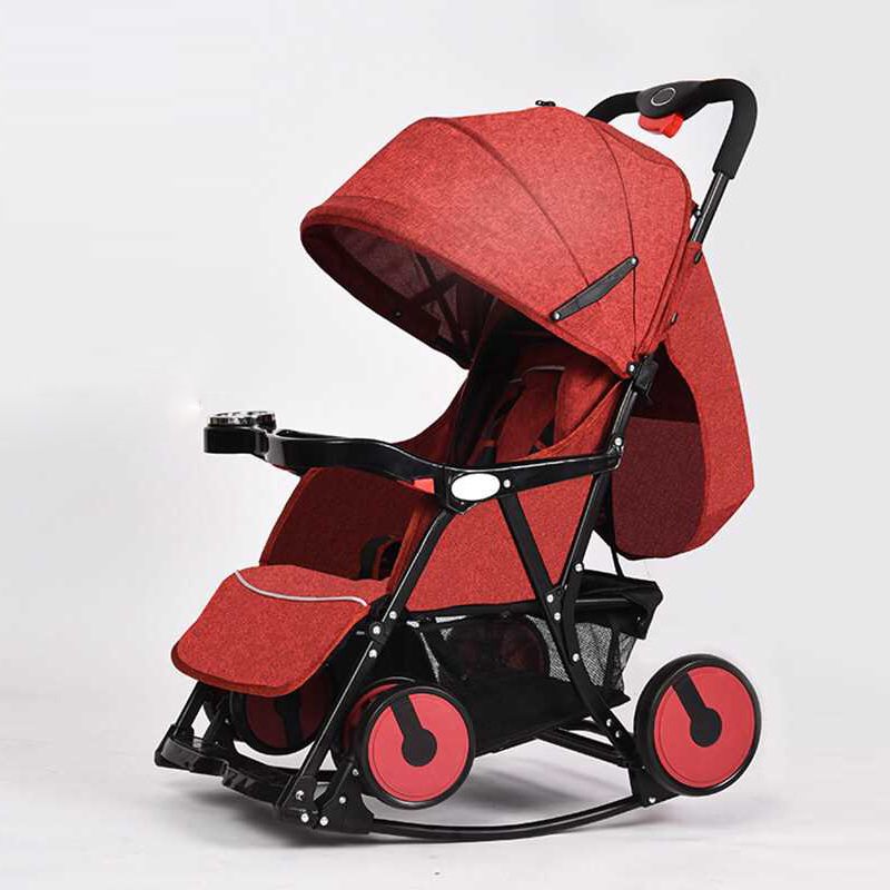 Creative Multiple Stroller 2 In 1 Four Wheel Umbrella Stroller Newborn Baby Rocking Chair Can Sit Lie Flat Portable Easy Folding newborn baby stroller 3 in 1 portable folding strollers sit and lie four wheels 2017 convience prams umbrella stroller 0 3years