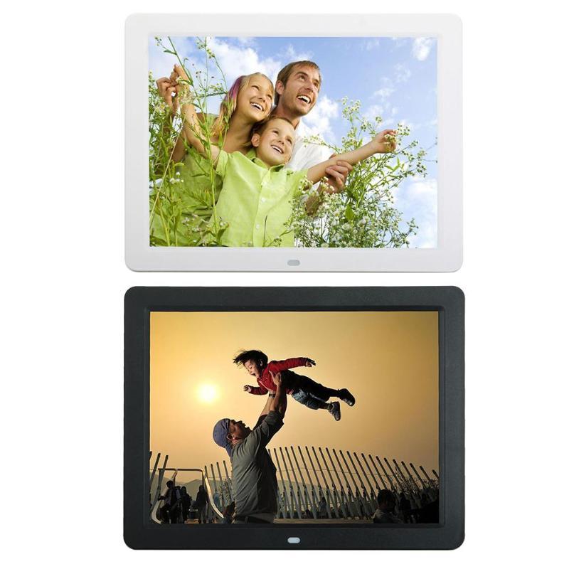12 дюймов цифровая фоторамка HD 1280x800 светодио дный электронный альбом фото-плеер Музыка Видео плеер часы, календарь