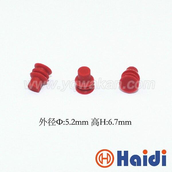 Бесплатная Доставка 100 шт. автомобильный разъем слепой резиновое уплотнение HDX020 красный супер манекен провода уплотнения для авто разъем
