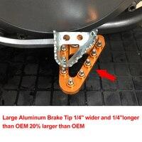 NICENC Wider Foot Rear Brake Pedal Lever Step Tip Plate For KTM 125 150 250 300