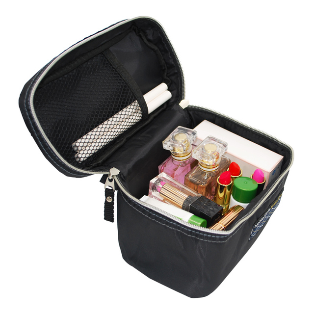 Black Women's Toiletry Storage Bag Cosmetic Organizer Home Organization Travel Wholesale Bulk Lots Accessories Supplies Products