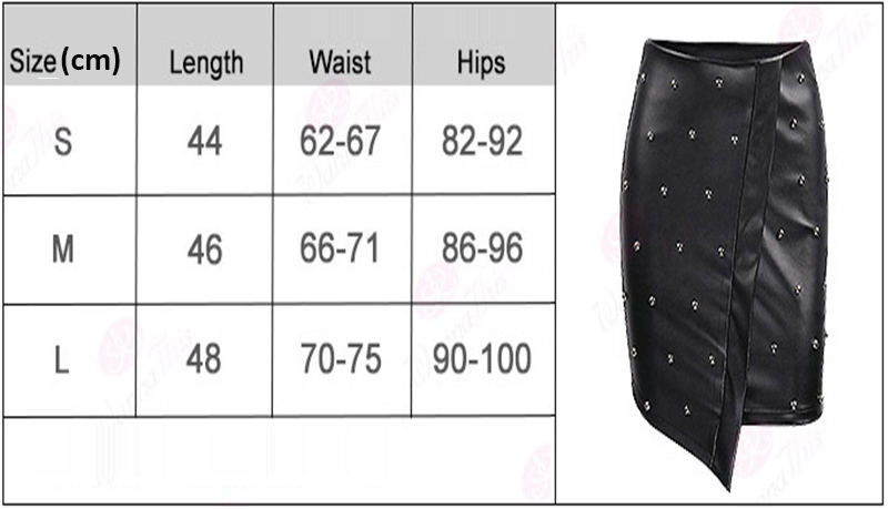 WYHHCJ 2018 new fashion summer women skirt anomaly rivet decorate empire sexy skirts pencil mini pu patchwork leather skirt 2
