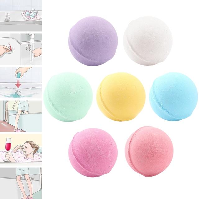 1pc Bomb Shape Deep Sea Bath Salt Body Bath Ball Natural Bubble Bath Bombs Ball Rose/Green tea/Lavender/Lemon/Milk random 2