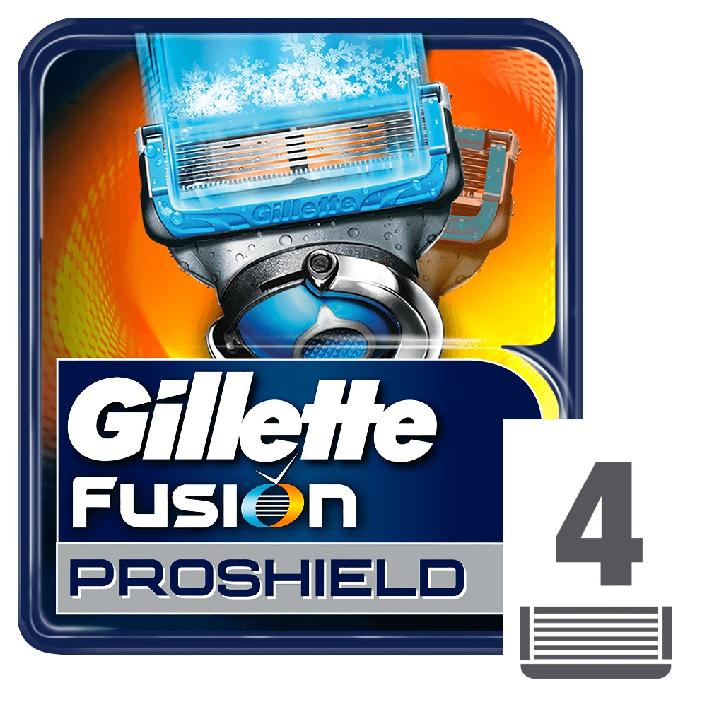Removable Razor Blades for Men Gillette Fusion ProShield Chill Blade for Shaving 4 Replaceable Cassettes Fusion Cartridge gift set gillette fusion proshield chill machine with 1 interchangeable cassette 2 interchangeable cassettes shaving gel 2 i