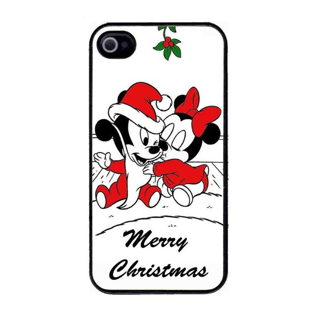 baby mickey minnie mouse christmas kiss hard plastic cell phone cover case cases for apple for
