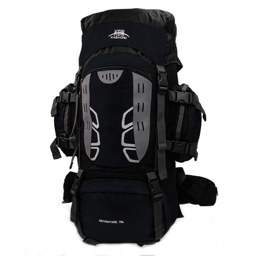 20f4a7c86c7e US $40.37 40% OFF  75L Large Hiking Backpack Big Outdoor Travel  Mountaineering Nylon Superlight Climbing Camping Rucksack for Men Daypack  with Rai-in ...