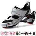 Teibao Мужская обувь для велоспорта обувь для шоссейного велосипеда горный велосипед MTB обувь светоотражающие велосипедные кроссовки Триатло...