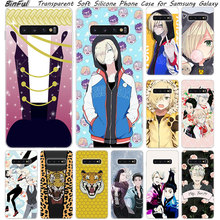 Hot Anime YURI on ICE Soft Silicone Case For Samsung Galaxy S10 S9 S8 Plus S7 Edge A6