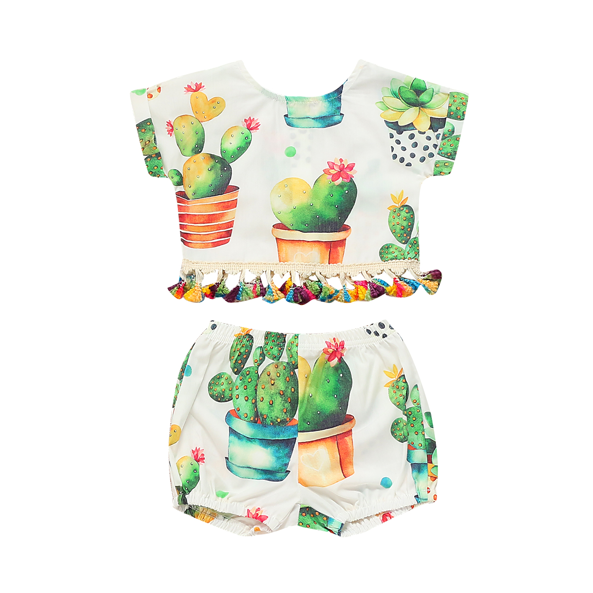 US Summer Newborn Baby Girl Floral Tops Crops Shorts Briefs 2PCS Outfits Sunsuit