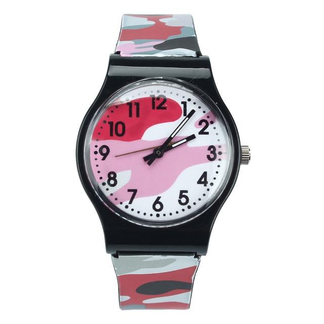 fashion new Camouflage Children Watch Quartz Wristwatch For Girls Boy Reloj Muje