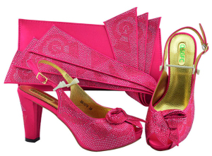 New Fashion Italian Design Shoes With Matching Bags African 10 cm High Heel Women Shoes and Bags Set For Prom Party MM1076