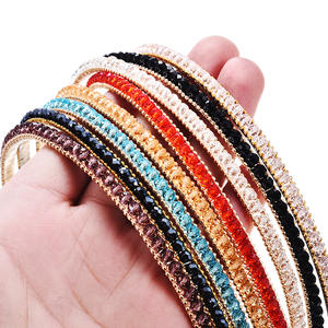 T M MISM New Fashion Beads Hair Bands Elegant Headband Hair Accessories Ornaments Hair Hoop For Women Girls Party