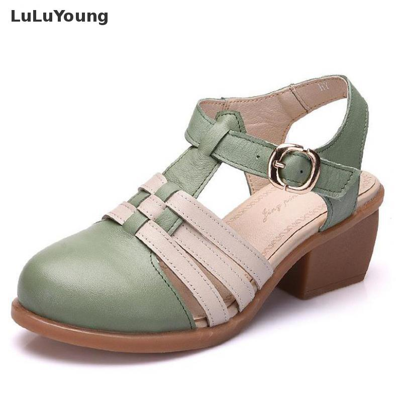 Brown En Chaussures Cuir Marron Gladiateur Femmes Green D'été MpzVSU