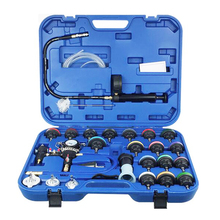 28pcs Water Tank Leakage Tester Universal Radiator Pressure Tester Kit Car Cooling System Tester Detector Pressure Gauge 1 set auto car refill cooling kit vacuum cooling system universal radiator vacuum pump coolant system