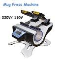 110 V/220 V Becher Hitze Presse Maschine Mini Doppel Station Becher Presse Maschine Becher Sublimation Transfer Maschine ST 210 -