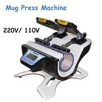 110V/220V Mug Heat Press Machine Mini Double Station Mug Press Machine Mug Sublimation Transfer Machine ST 210