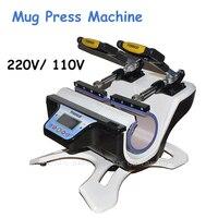 110V/220V kupa ısı basın makinesi Mini çift istasyonlu kupa basın makinesi kupa süblimasyon Transfer makinesi ST-210