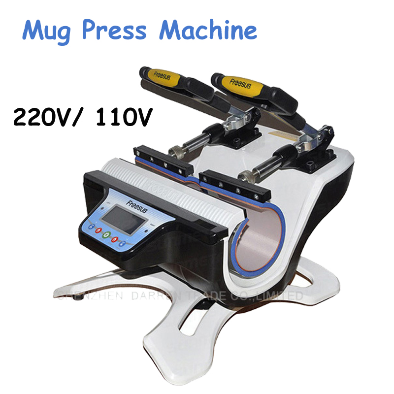 Mini Double-Station Mug Press Machine Mug Heat Press Machine Mug Sublimation Transfer Machine ST-210 new design single display 7 in 1 heat press machine mug cap plate tshirt heat press sublimation machine heat transfer machine