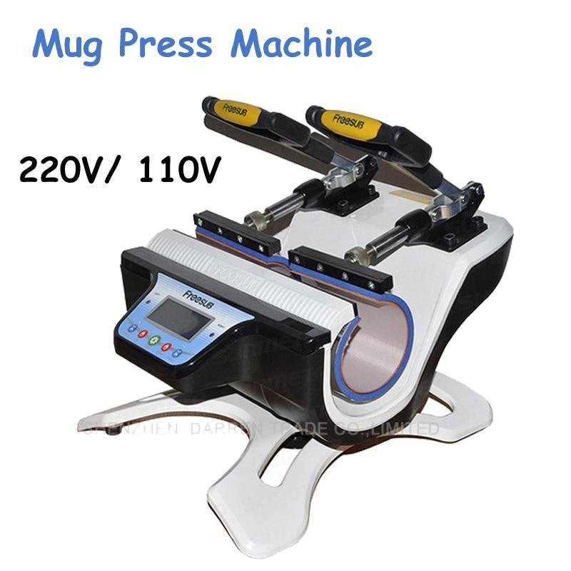 Mini Double-Station Mug Press Machine Mug Heat Press Machine Mug Sublimation Transfer Machine ST-210 термокружка emsa travel mug 360 мл 513351