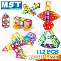 112PCS Mini Magnetic Building Blocks Plastic Magnet Educational Toys Magnetic Designer Construction Set For Children Kids Gift