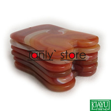 Gift chart & beauty bag! Traditional Acupuncture Massage Tool Guasha Beauty kit Natural Red Agate Stone square shape 2pcs/lot бумажник beauty square