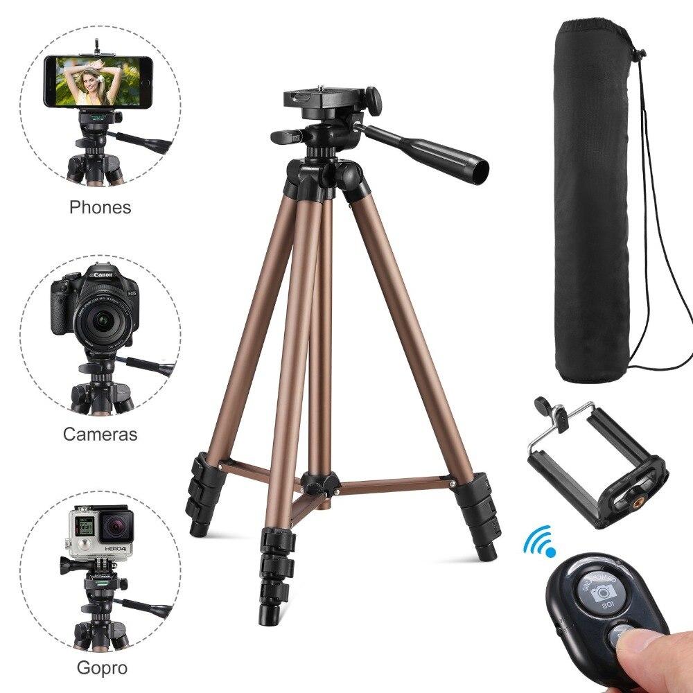 Stativ für telefon mit fernbedienung halter stehen stativ für telefon bluetooth und kamera smartphone stative cam dslr montieren