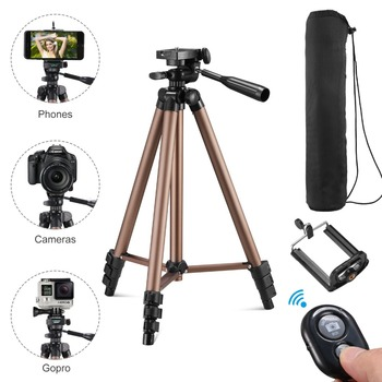 tripod for phone with remote control holder stand tripod for phone bluetooth and camera smartphone tripods cam dslr mount