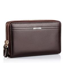 2016 luxus Männliche Leder Geldbeutel männer Kupplung Brieftaschen Handliche Taschen Business Carteras Mujer Brieftaschen Männer Schwarz Braun Dollar Preis
