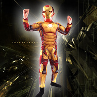 Iron Man Mark 42 Costume with Muscles For Kids Child Cosplay Halloween Marvel (3 Designs) 3