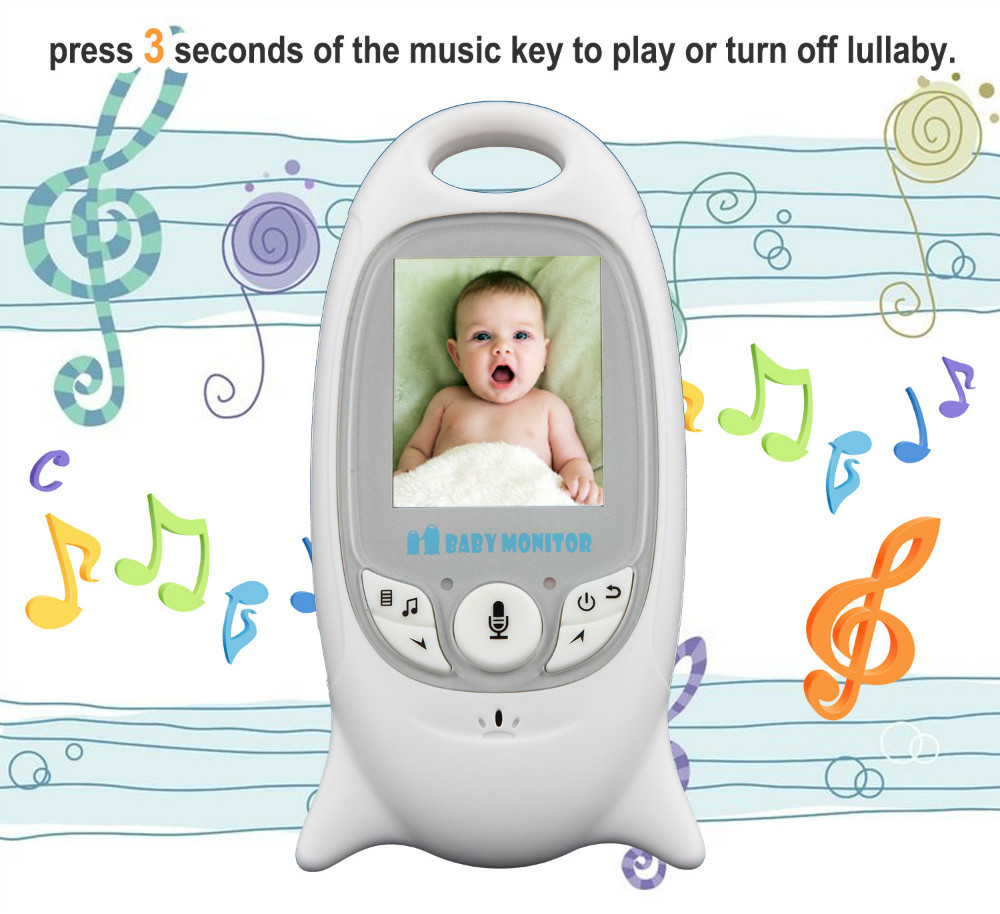 2.4GHz Wireless Infant Baby Sleeping Monitor Baby Electronic Home Security Audio Night Vision Temperature Monitoring Radio Nanny