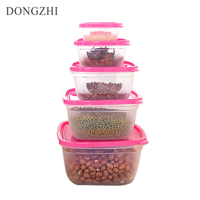 Ecofriendly 5pcs/Set Solid Food Container With Lid Reusable Microwavable Plastic Storage Box Fruit u0026  sc 1 st  AliExpress.com & Ecofriendly 5pcs/Set Solid Food Container With Lid Reusable ...