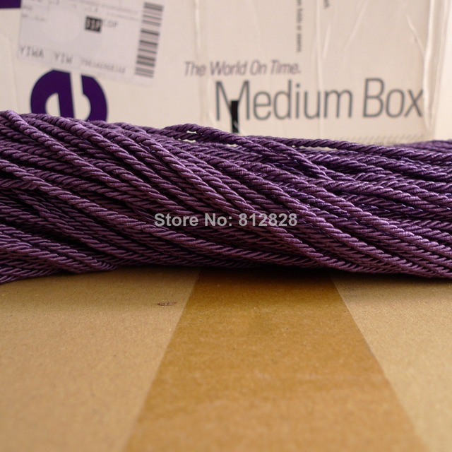 100 Meters 3mm Plum Purple Color Decorative Polyester Twisted Rope 17 Colors Available