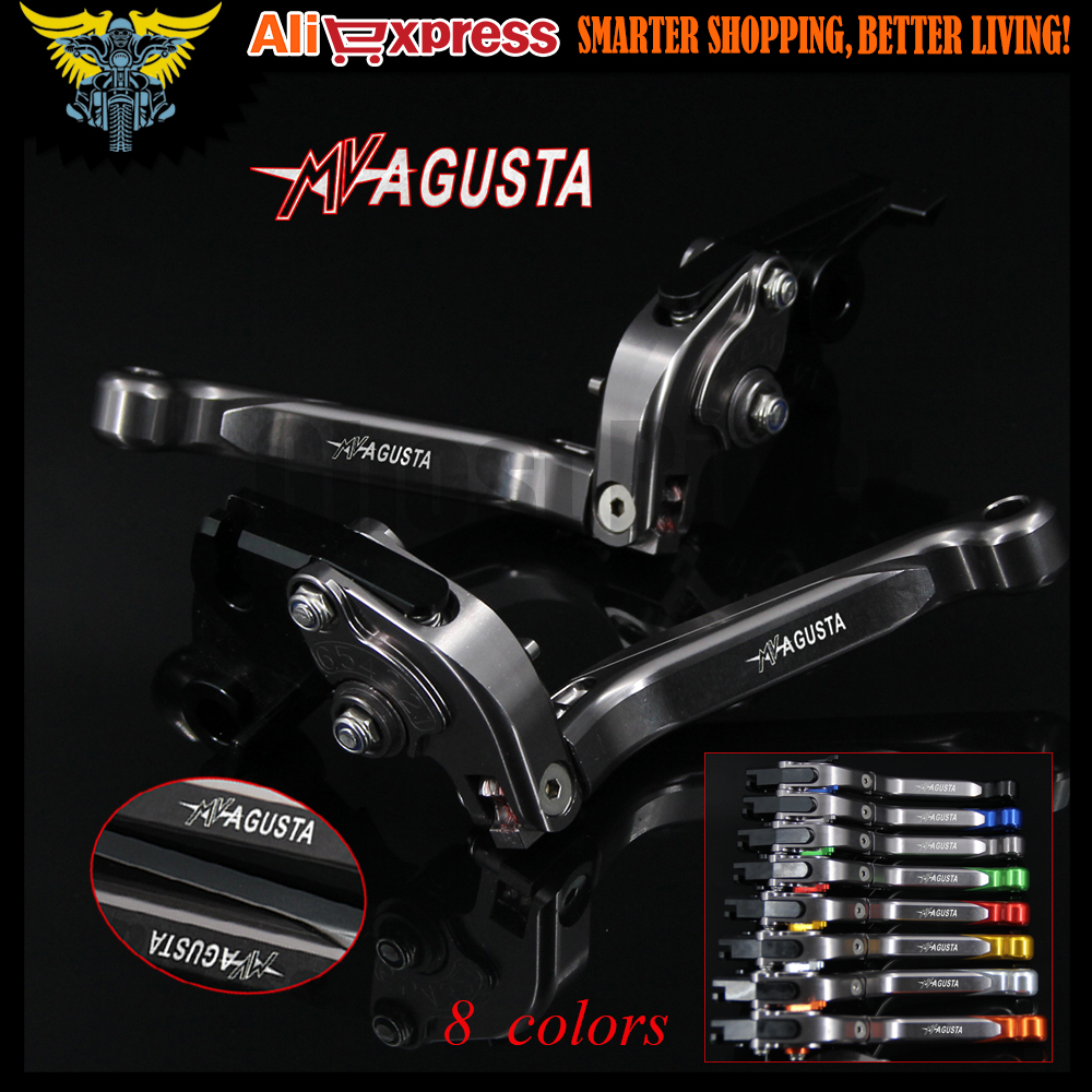 CNC New Titanium Motorcycle Brake Clutch Levers For MV AGUSTA Dragster 800/RR 2014 2015 2016 Shortys only w/ stock handguards new universal brand cnc motorcycle accessories fairing bodywork bolts screws for mv agusta f4 rr agusta f4 rr 2011 2014 2012
