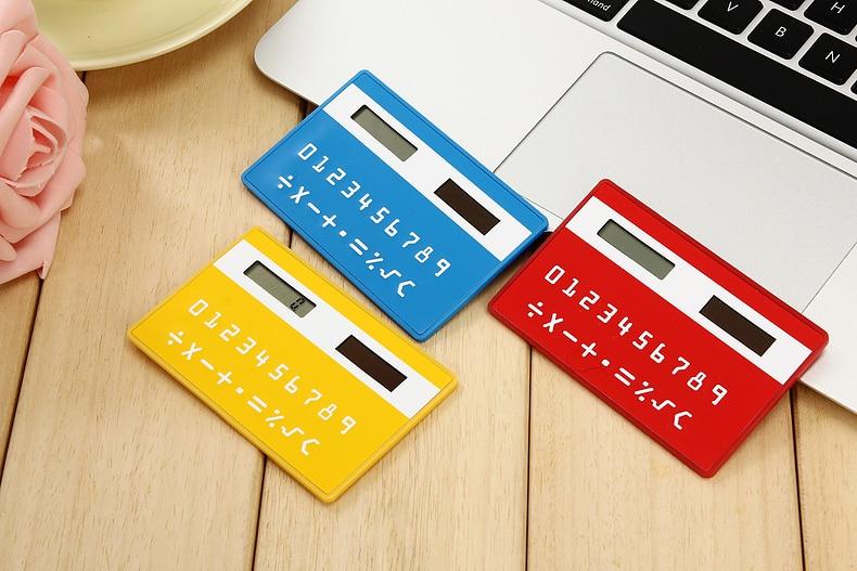 1 adet / grup Kore kırtasiye kartı taşınabilir hesap mini el ultra-ince hesap ücretsiz kargo