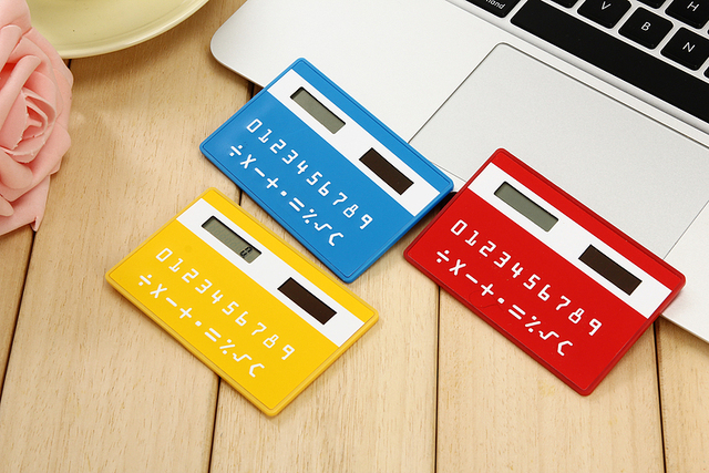1pcs/lot Korea stationery card portable calculator mini handheld ultra-thin calculator free shipping