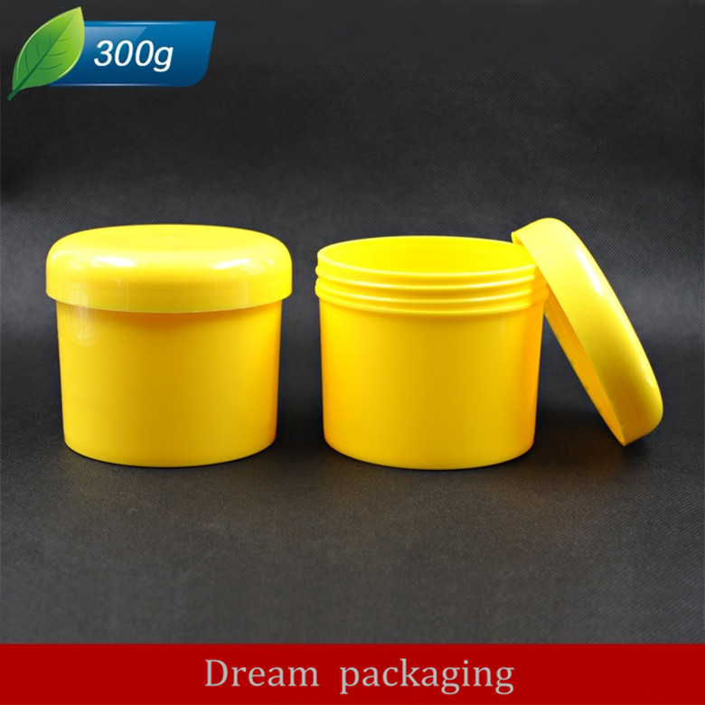 Hot 20Pcs 300g Cosmetic Empty Jar Pot Eyeshadow Makeup Face Cream Container Bottle Fashion Design yellow
