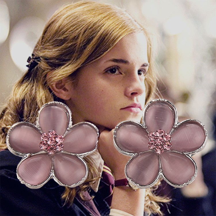 Harry Potter Hermione's Pink Crystal Prom Earrings
