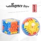 <+>  3D мини лабиринт волшебный кубик головоломка скорость куб лабиринт катящийся шар игрушки  ①