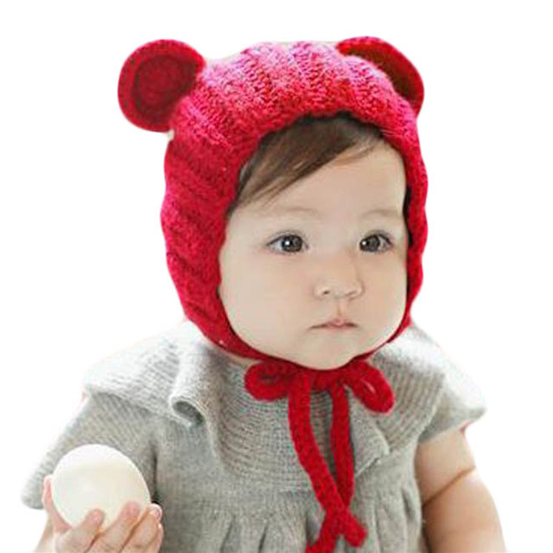 2018 New Fashion Winter Knitted Cap For Children Cotton Hat   Skullies     Beanies   Baby Hat For Girls Cap Winter Warm Hat For Boys