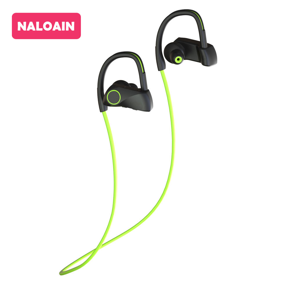 Bluetooth Headset Sport IPX7 Waterproof Bass Wireless Earphone Stereo Neckband Headphone With Mic Hands Free For Smartphone hot h05 bluetooth earphone leather business style hands free stereo headset fashion headphone with mic a2dp for android ios