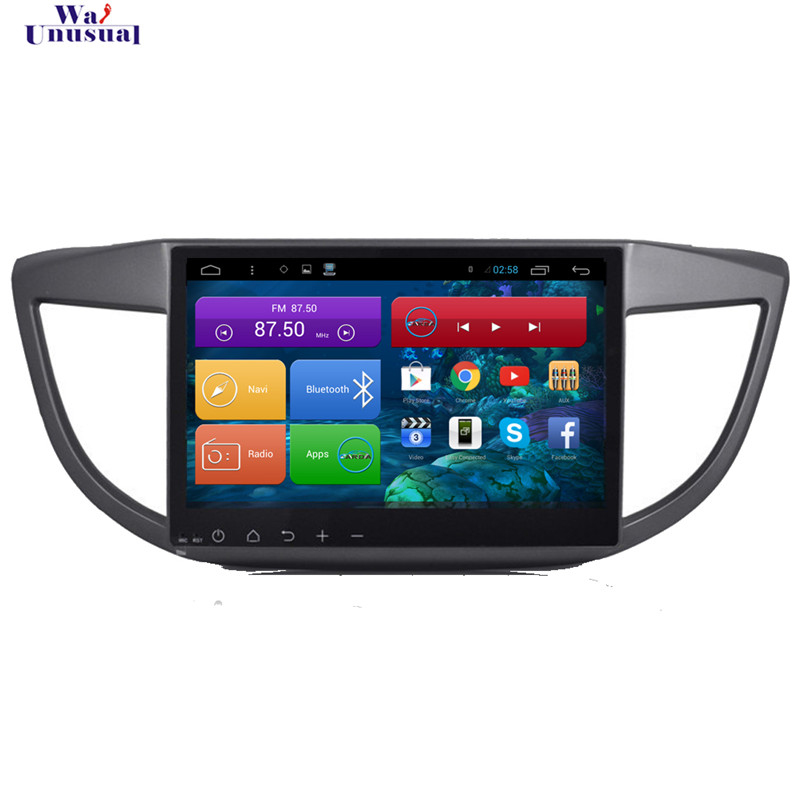 WANUSUAL 10.2'' Quad Core Android 6.0 <font><b>GPS</b></font> Navigation for <font><b>Honda</b></font> <font><b>CRV</b></font> 2012 <font><b>2013</b></font> 2014 2015 With Bluetooth Wifi Mirror Link 1024*600 image