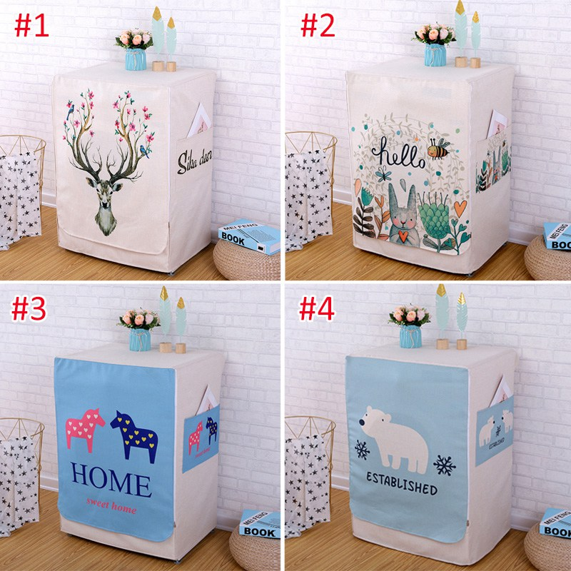 Washing Machine Covers Made Of High Quality Cotton linen Material For Home Accessories 19
