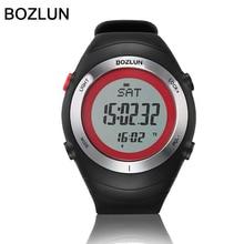Bozlun Marca sensor del monitor del Podómetro del ritmo cardíaco reloj Deportivo relojes orologi uomo pecho al aire libre corriendo relojes de pulsera digitales