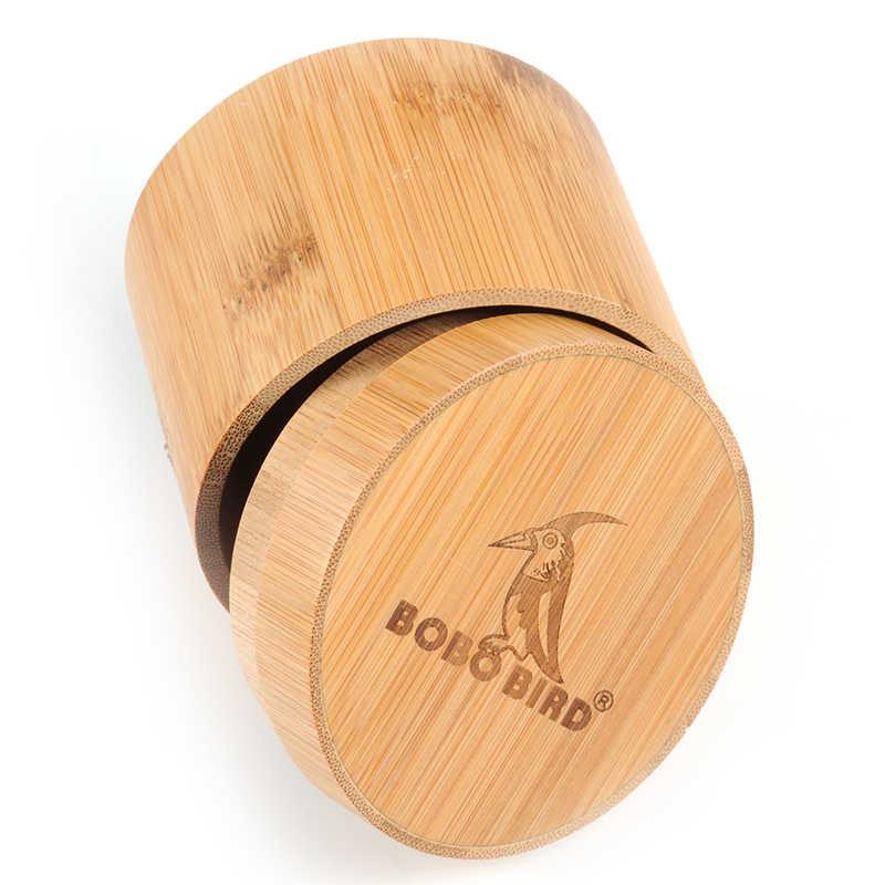 Caja redonda de bambú BOBO BIRD para relojes