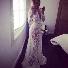 Fashion Summer font b Women s b font Lace Floral Boho Long Maxi font b Dress