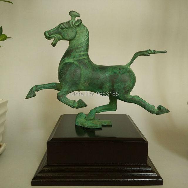 hot sale fine home decoration chinese antique bronze copper horse