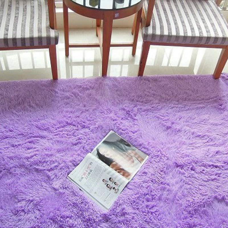 ALITEXTILEBTOC tapis Polyester soie tapis pour couloir chambre salon allée chevet grande taille tapis